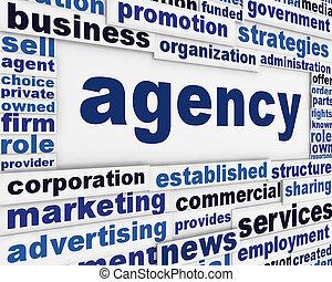 Agency poster design
