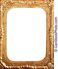 antique gold metal frame
