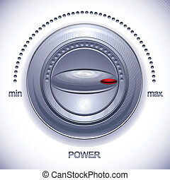 Power Knob calibration - Power Knob calibration, vector icon...