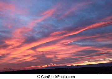 Dawn alpenglow