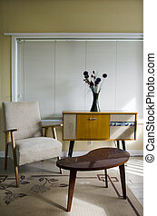 Retro decorated room - Retro room decorated with furnitures...