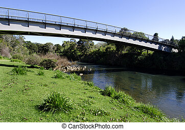 foto, concepto,  -, vacío, Puente