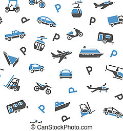 Seamless backdrop transport icons