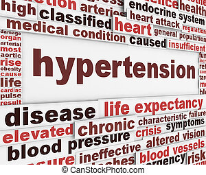 Hypertension medical poster design. Health care risk factor...
