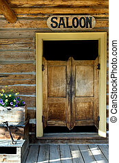Saloon doors - Authentic saloon doors of old western...
