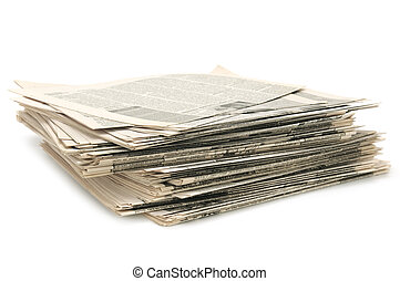 newspapers isolated on a white background...