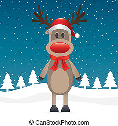 rudolph reindeer red nose scarf hat - rudolph reindeer red...