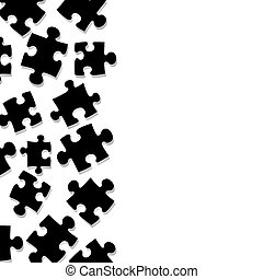 puzzle border - Abstract puzzle pieces that make an ideal...
