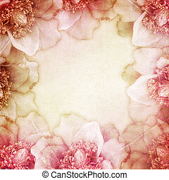 Background for congratulation card with flowers