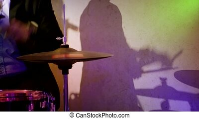 Drummer and Shadow with Lighting - The Shadow of Drummer...