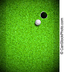 Playing Golf - Golf ball and hole. Eps 10
