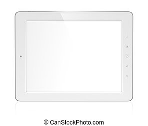 Tablet computer - 3D illustration of modern tablet computer...