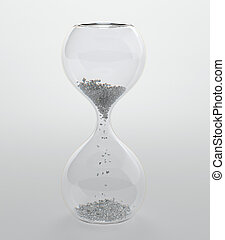 Hourglass - 3D render of hourglass with diamond grain