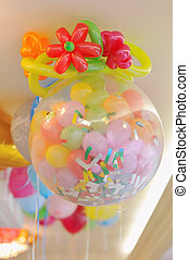 Miracle Balloons - festive decoration of colored balloons...