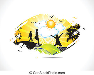 abstract summer holiday background vector illustration