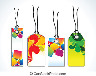 abstract sale tag template vector illustration