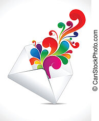 abstract colorful mail explode