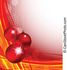 Xmas background in red color. Abstract illustration