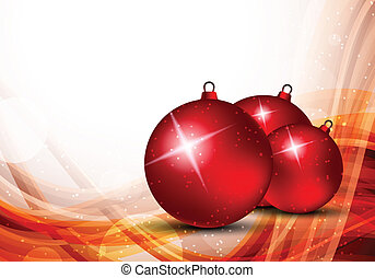 Xmas background with evening balls Abstract illustration