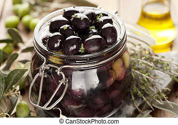 pickling olives - olives in the process of being pickled