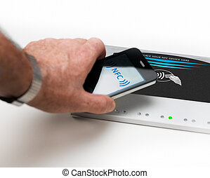 NFC - Near field communication contactless payment -...