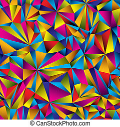 Colorful surface seamless pattern. - Colorful geometric...
