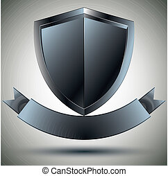 Shield and blank ribbon. - Shield and blank ribbon security...