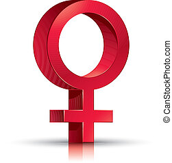 Female symbol. - Female symbol Venus with transparent shadow...