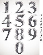 Vintage style numbers typeset - Vintage style numbers...