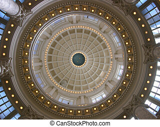 Idaho Capitol Rotunda - The interior of the Idaho State...