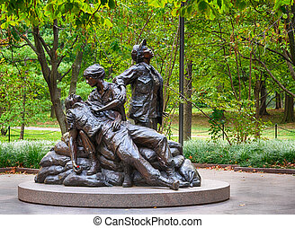 Women's Vietnam memorial in Washington - WASHINGTON DC -...