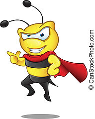 Super Bee - Pointing - A vector illustration of a Super Bee...