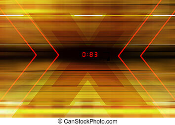 Digital graphic illustration - Technology background with...