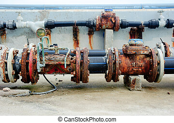 Rusty valves&pipes