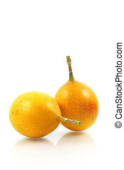 Granadilla Fruit - Tropical fruit on white background