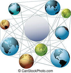 Join Earth world colors in global network - Put your logo or...