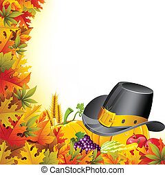 Colorful Thanksgiving - illustration of pumpkin for...