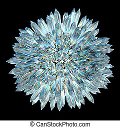 Crystal sphere with acute columns - gemstones and minerals:...
