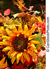 Fall arrangement - Colorful floral arrangement of fall...