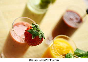 Smothies - Colorful smoothies with fresh fruits