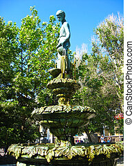 Statue with a fountain