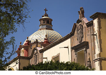 Dome Church Mexico - Dome Santa Clara Church Templo de Santa...
