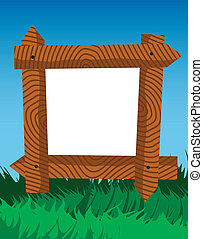 Frame made of fence logs