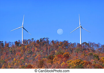 Wind mills on the hill