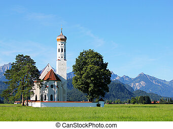 St. Coloman Church, Bavaria,Germany - St. Coloman Church,...