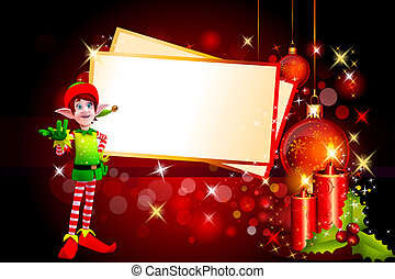 elves with christmas cards