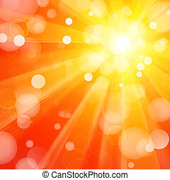 Abstract background - Bright yellow and orange abstract...
