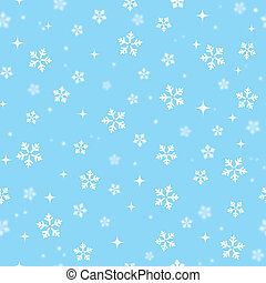 Snowflakes on blue sky - Christmas - Xmas pattern - winter...