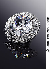 diamond jewelry - closeup of faux diamond earring