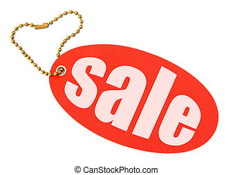 Sale tag on white background, there is no copyright...